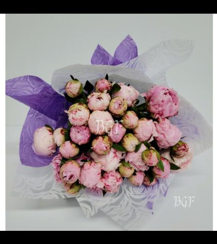 Princess Peonies Bouquet (Hand-Tied)