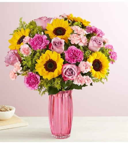 Sunflowers and Pink