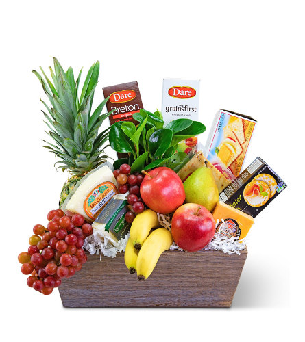 Classic Fruit and Cheese Basket - Gift Basket