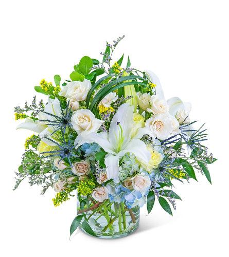 Bossa Nova Blues Flower Arrangement
