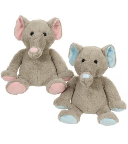 Plush Baby Elephant - (Pink or Blue)