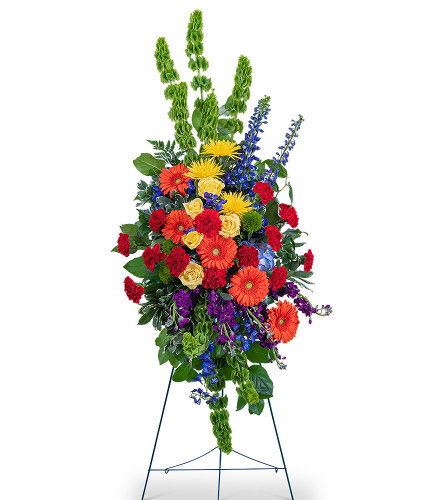 Vibrant Life Standing Spray with Flowers