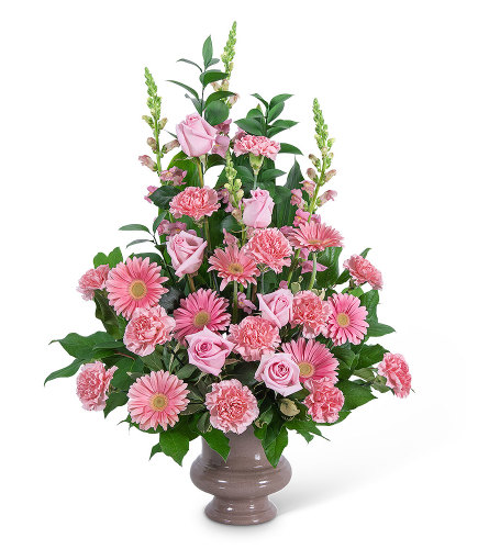 Forever Adored Urn with Flowers