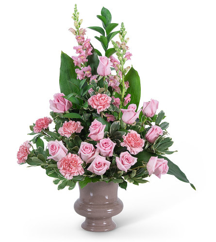 Forever Urn with Flowers