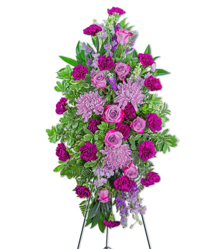 Gracefully Majestic Standing Spray with Flowers