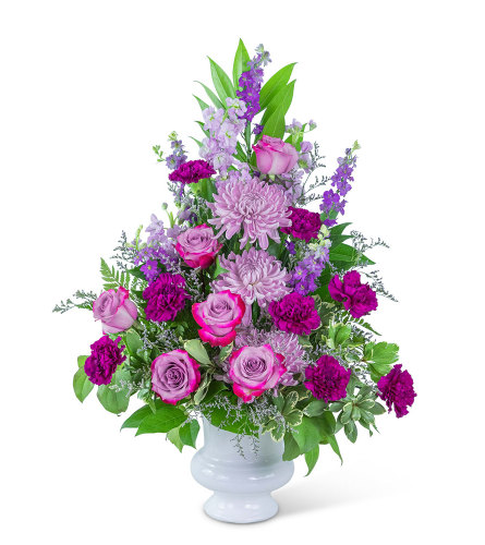 Majestic Urn with Flowers