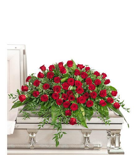 Everlasting Love Casket Spray with Flowers