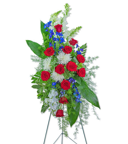 Valiant Honor Standing Spray with Flowers