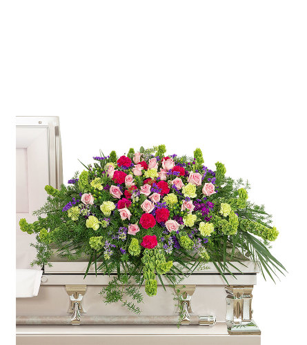 Always Remembered Casket Spray with Flowers