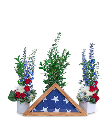 Freedom Tribute with Flowers