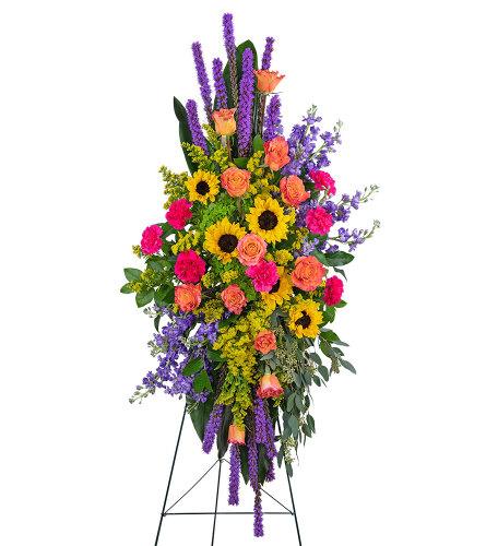 Treasured Memories Standing Spray with Flowers