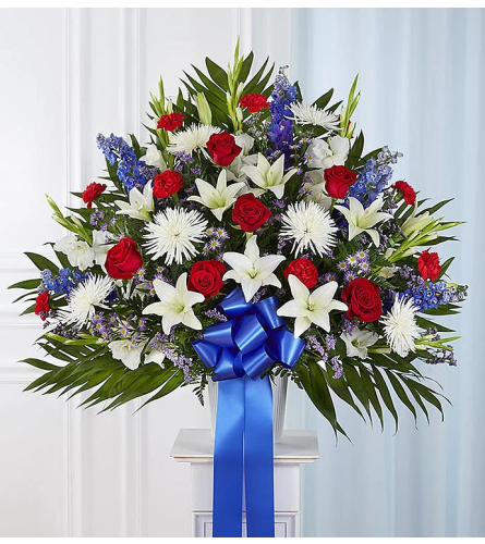 Red, White and Blue Basket