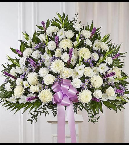 White and Lavender Memories Basket