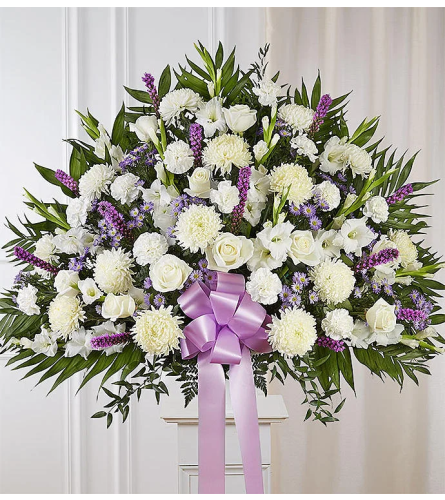 White and Lavender Delicacy Basket