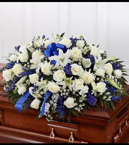 Rest in Blue Casket Spray