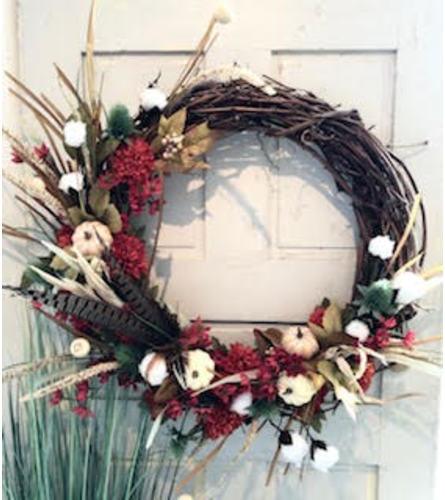 Birds of a Feather Silk Wreath