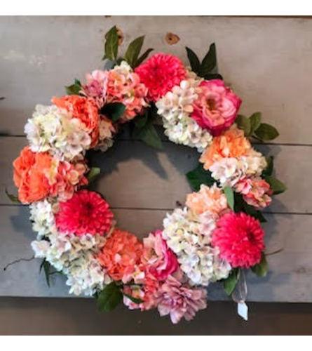 Perfectly Pink Silk Wreath