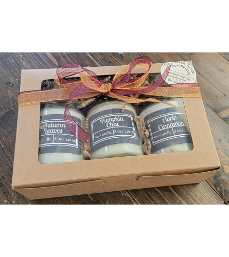 Seasonal Fall Candle Gift Box