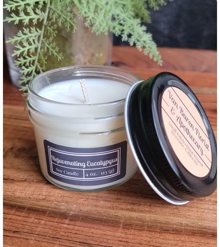 """4oz """"Rejuvenating Eucalyptus"""" Soy Candle"""