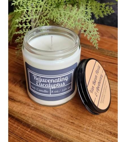 """8oz """"Rejuvenating Eucalyptus"""" Soy Candle"""