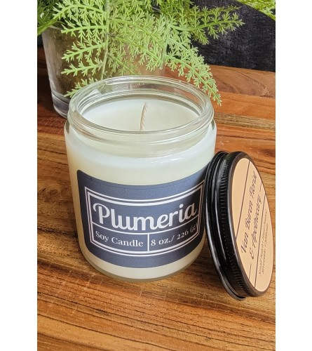 "8oz ""Plumeria"" Soy Candle"