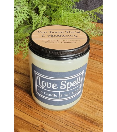 """8oz """"Love Spell"""" Soy Candle"""