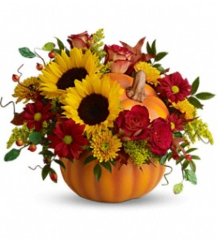 Pretty Pumpkin Bouquet TF