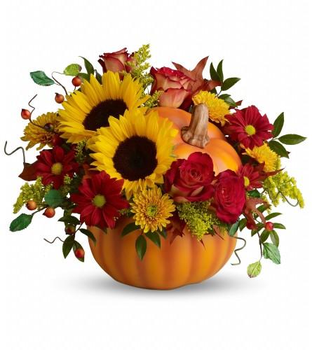 A Pretty Pumpkin Bouquet (Teleflora)