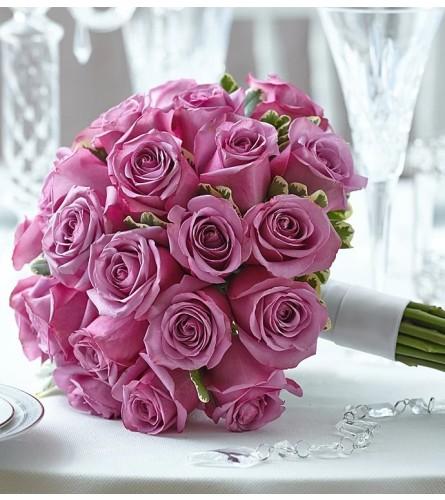 Simply Lavender Rose Bridal Bouquet