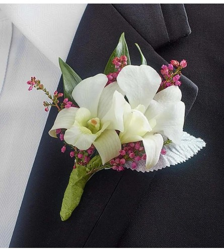 Simply Dendrobium Orchid Boutonniere
