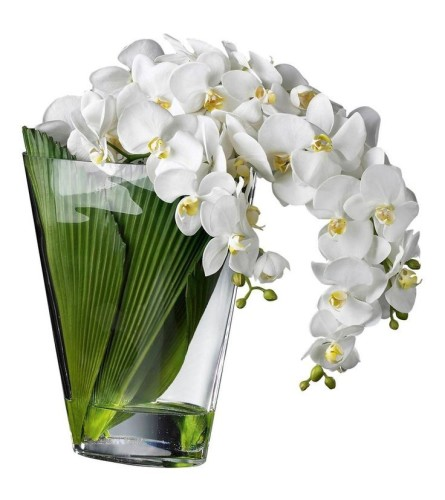 Modern Orchid Cascade