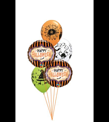 Halloween Stripes Classic Balloon Bouquet