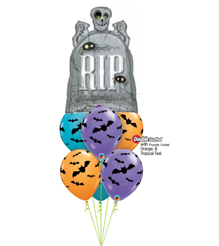 R.I.P. Tombstone Halloween Awesome Balloon Bouquet
