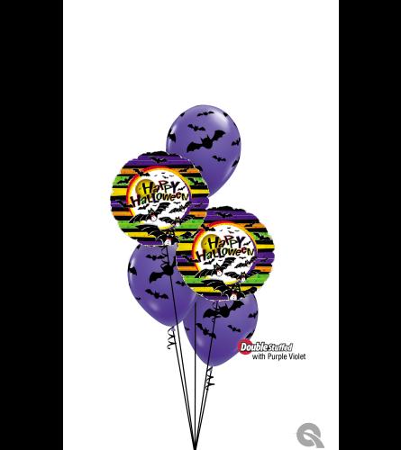 Halloween Bats Classic Confetti Balloon Bouquet