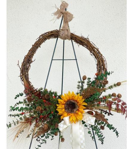 Sunflower Giving Wreath