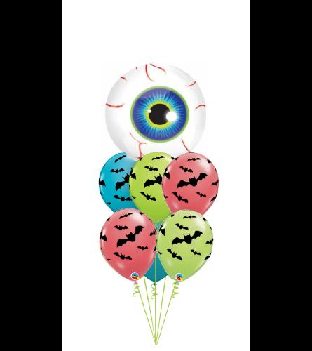 Halloween Eyeball Bubble Balloon Bouquet