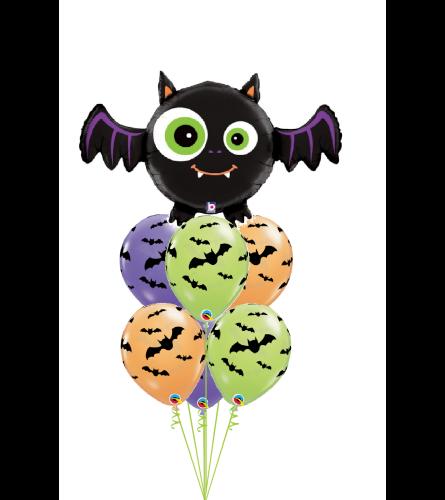 Batty Halloween Awesome Balloon Bouquet