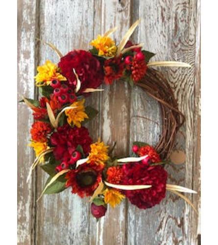 Happy Fall Silk Wreath
