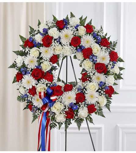 Standing Wreath- Red, White & Blue