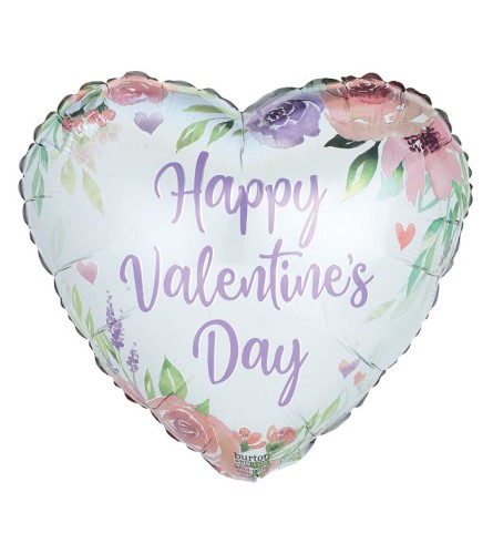 Happy Valentine's Day with roses Balloon