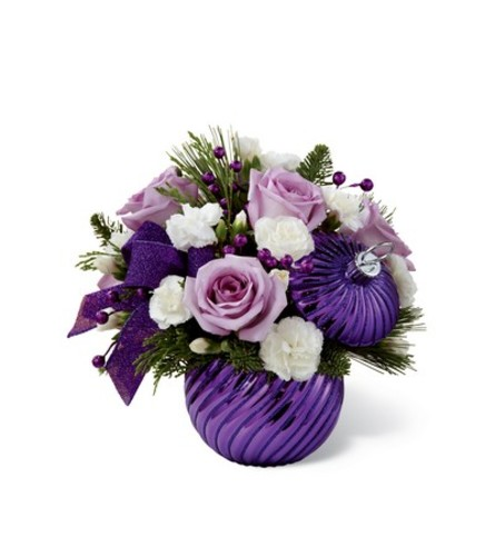 PURPLE HOLIDAY DELIGHTS BOUQUET