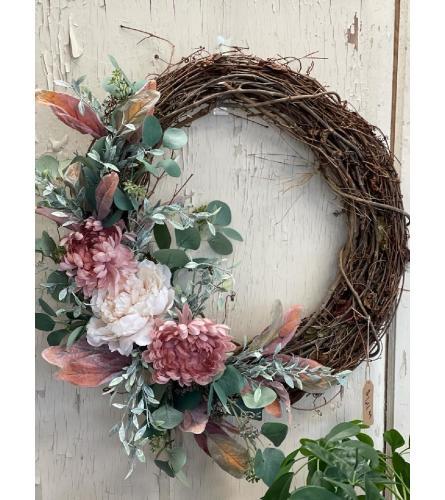 Mauve and White Wreath