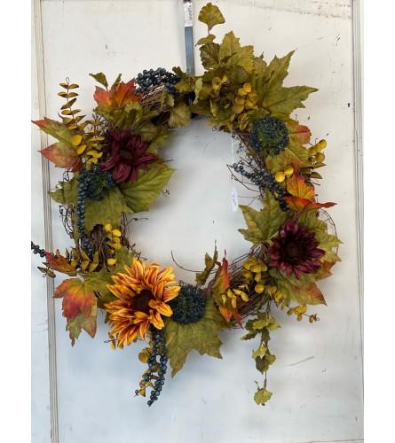 Autumn Silk Grapevine Wreath