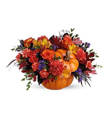 Teleflora Hauntingly Pretty Pumpkin Arrangement