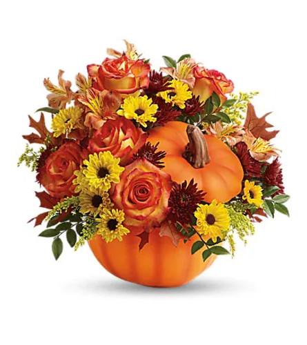 Teleflora's Warm Fall Wishes Flower Arrangement