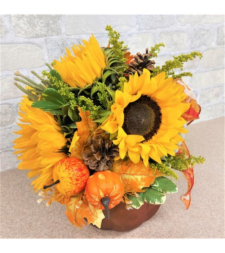 Giving thanks with sunflowers