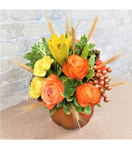 Giving thanks with peach roses