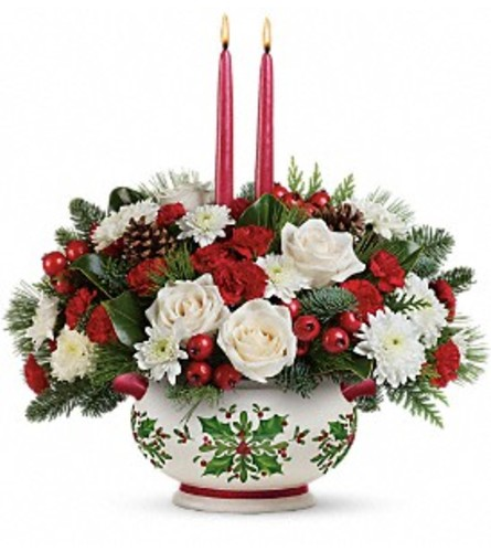 THE HOLLY DAYS CENTERPIECE