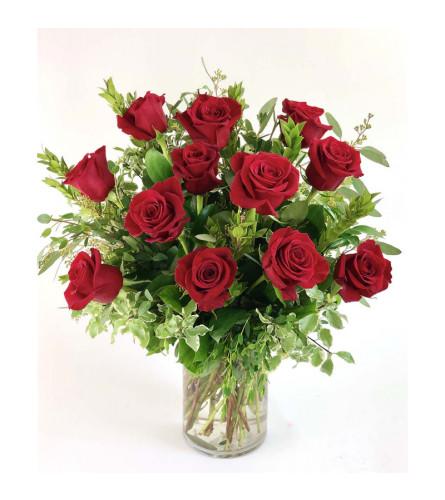 Dozen Long Stem Premium Red Roses