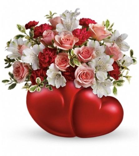 Teleflora's Twin Hearts Bouquet